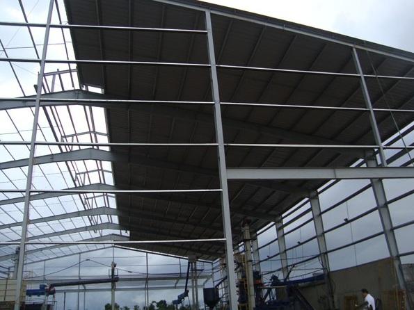 Thi công lắp đặt mái tôn cho nhà kho nhà xưởng